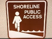 Shoreline Access sign